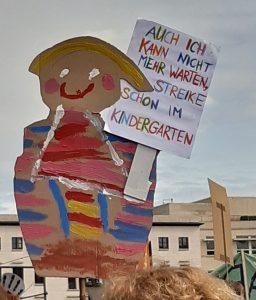 Plakat auf einer Umweltdemo
