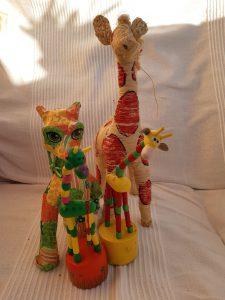 Vier Giraffen